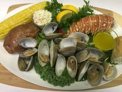 Clambake with Lobster Tail
