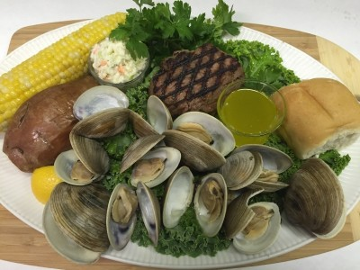Clambake with Sirloin Steak